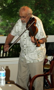 Hyman Freedman playing the fiddle.