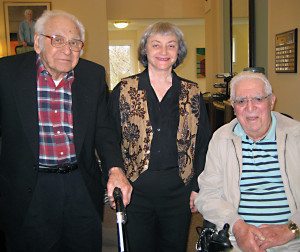 From left to right: Murray Kaufman, Marion Gans, Sam Berry (& Diane Budner – not pictured)
