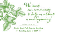2017 Cedar Sinai Park Annual Meeting of the Board