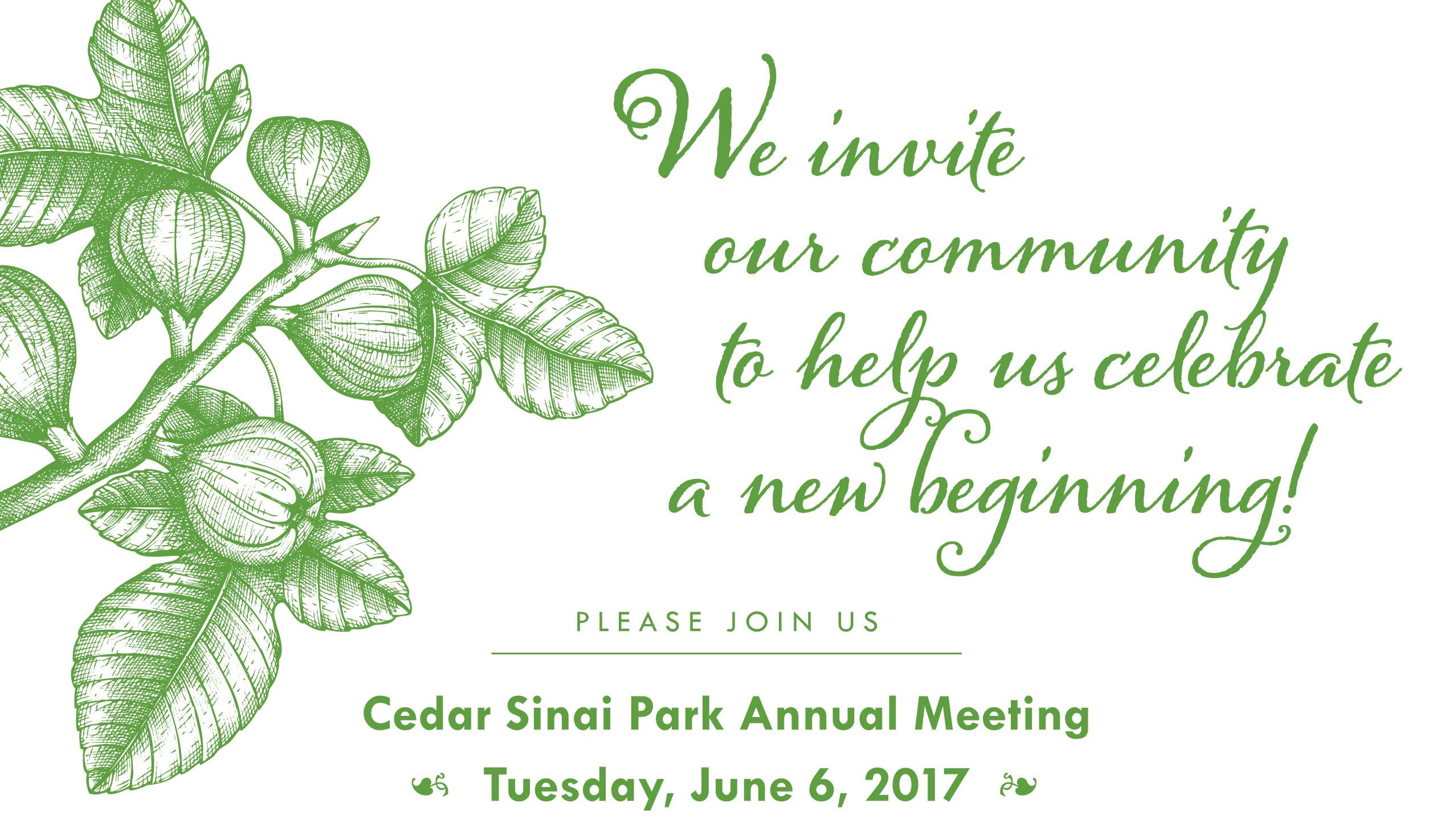 2017 Cedar Sinai Park Annual Meeting of the Board