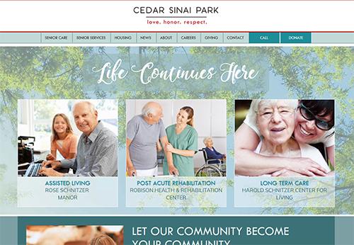 Thumbnail of Cedarsinaipark.org front page